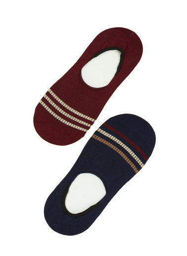 Penti Lacivert - Bordo E  Line Kapalı 2 Li  Soket Çorap Mavi